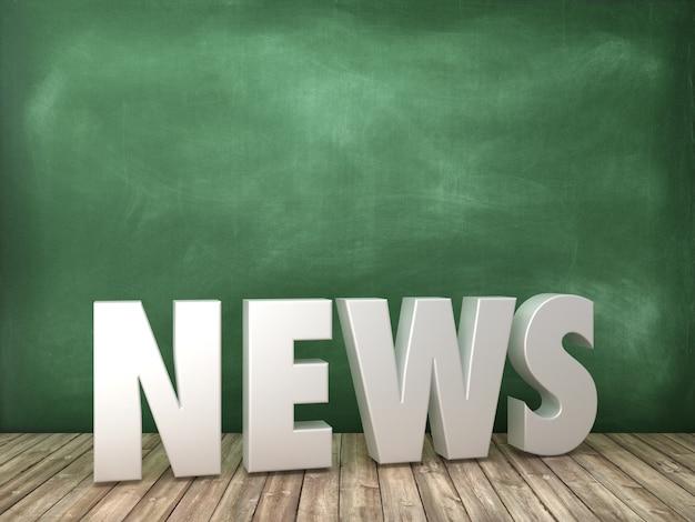Rendering illustration von news word auf tafel