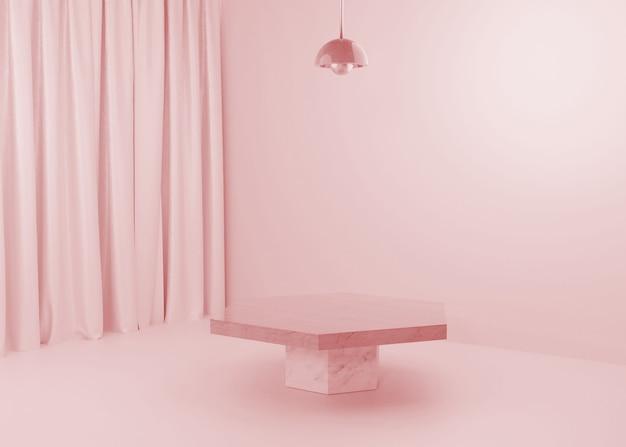 Rendering pink pastell display podium produktstand