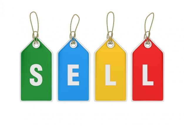 Rendering von hanging shopping preisschild verkaufen