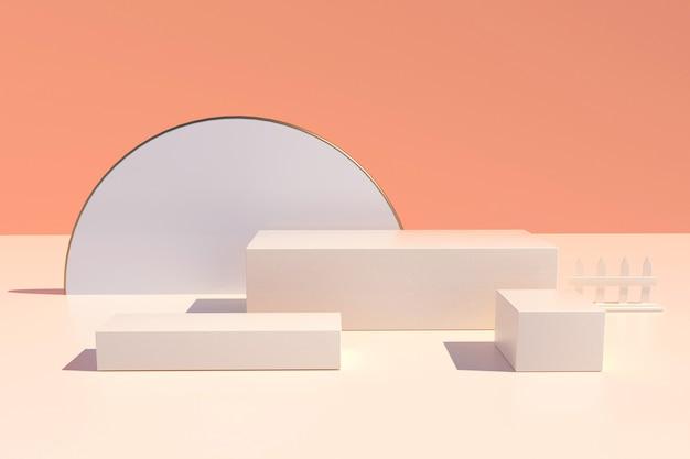 Rendern des abstrakten geometrischen formhintergrunds für produktanzeige