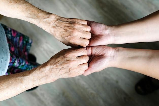 Rente, alter und seniorenbetreuung