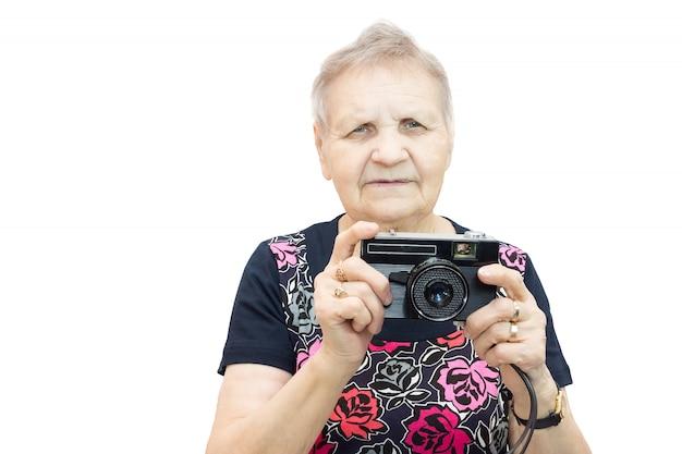 Rentner mit einer kamera