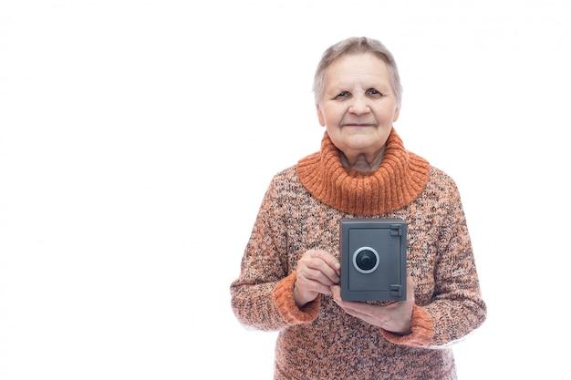 Rentner mit safe