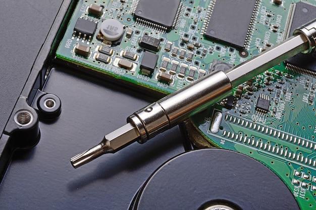 Reparatur der computerfestplatte