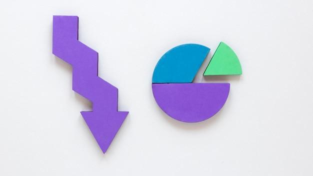 Repräsentativer pfeil für wirtschaft und diagramm