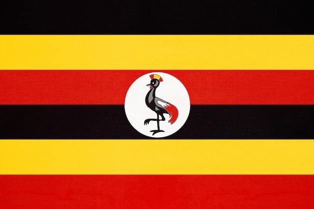 Republik uganda national stoff flagge