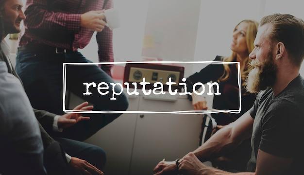 Reputation business brand marketing-konzept