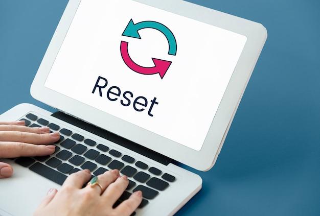 Reset-technologie-update digital neu laden