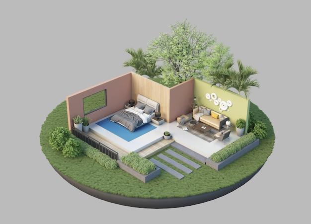 Residenz im 3d-stil