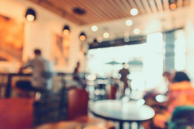 Restaurant-café oder café-interieur mit abstraktem, defokussiertem hintergrund der menschen