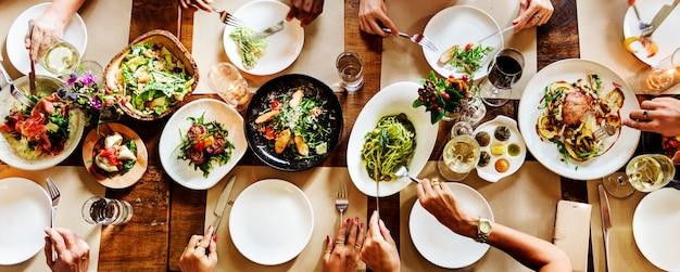 Restaurant, das heraus noblen lebensstil reserviertes konzept kühlt