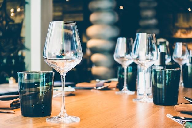 Restaurant elegante set speise mittagessen