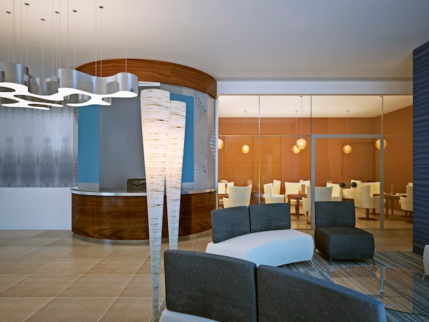 Restauranttreffen in modernem design