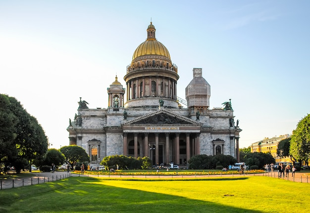 Restaurierung der isaakskathedrale in st. petersburg.