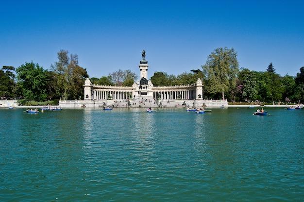 Retiro park spanien madrid