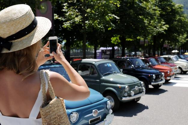 Retro-autos fotografieren