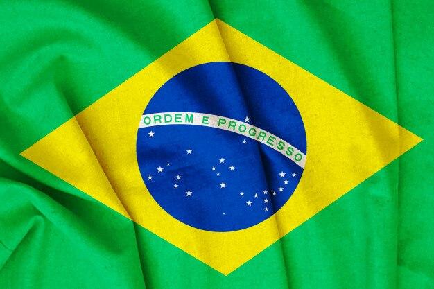 Retro brasilien flagge