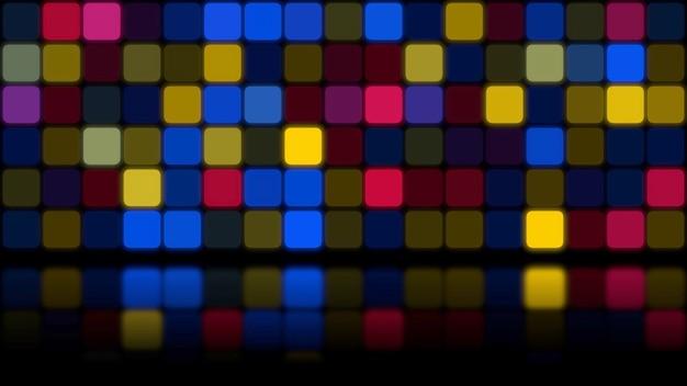Retro bunter mosaik abstrakter hintergrund. elegante und luxuriöse dynamische geometrische 3d-illustration im stil der 80er und 90er jahre
