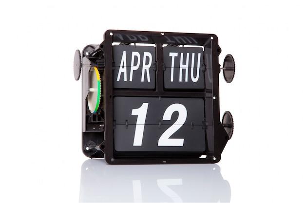 Retro- datum des mechanischen kalenders am 12. april, am lokalisierten internationalen tag des menschlichen raumfluges.