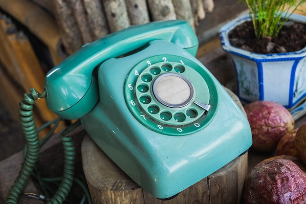 Retro-dreh-telefon
