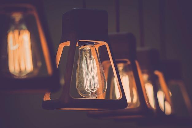 Retro edison glühbirne dekor