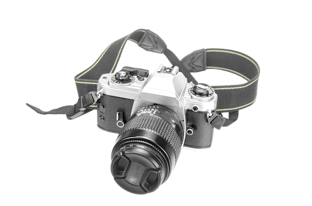 Retro fotokamera isoliert