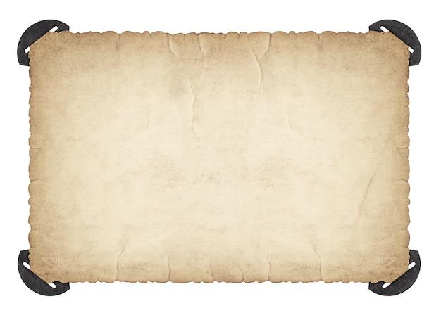Retro-fotorahmen mit ecken und kanten. gebrauchter papierkarton isoliert auf weißem hintergrund