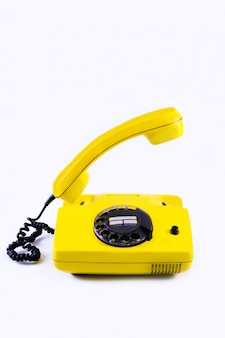 Retro gelbes telefon