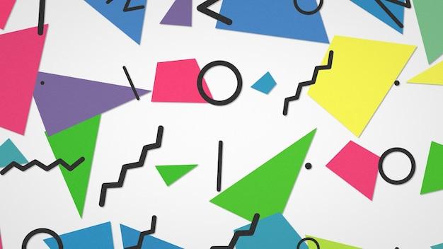 Retro geometrische form, abstrakter hintergrund