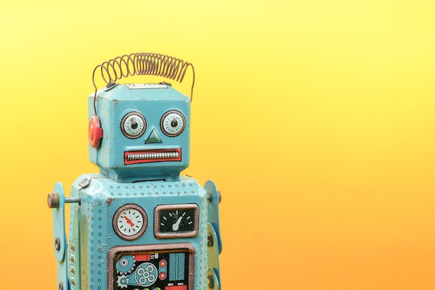 Retro roboter spielzeug