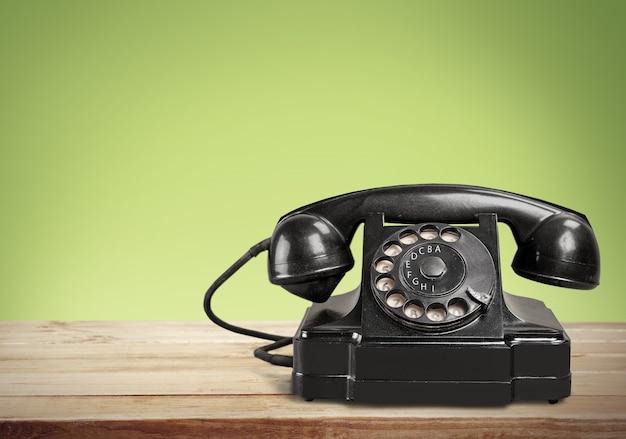 Retro schwarzes telefon