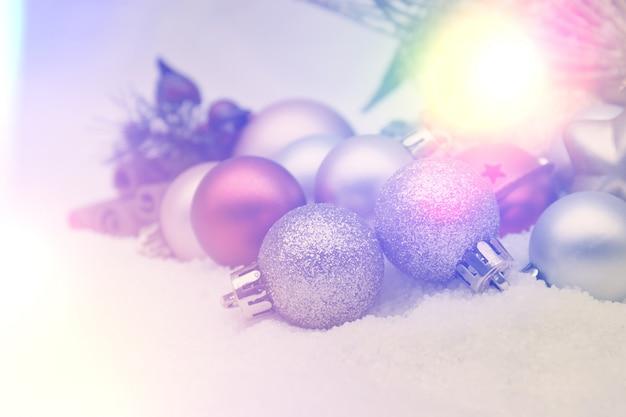 Retro-stil hintergrund weihnachten mit dekorationen