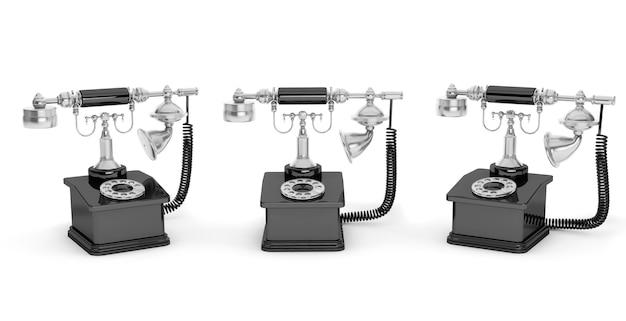 Retro-telefon. vintage telefone auf weißem hintergrund