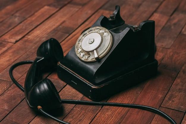Retro-telefonkommunikation klassischer stil technologie vintage