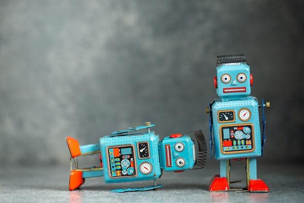 Retro vintage roboter zinn spielzeug