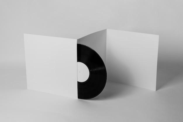 Retro-vinyl-konzept mit kopierraum