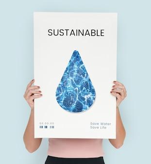 Rette das nachhaltige ökologiekonzept des planeten planet