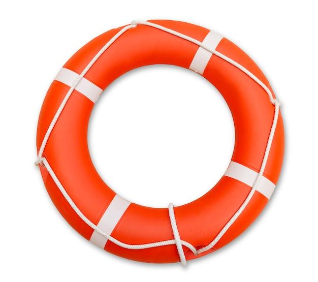 Rettungsschwimmer, isoliert auf weiss