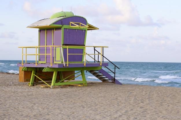 Rettungsschwimmerhäuser in miami beach
