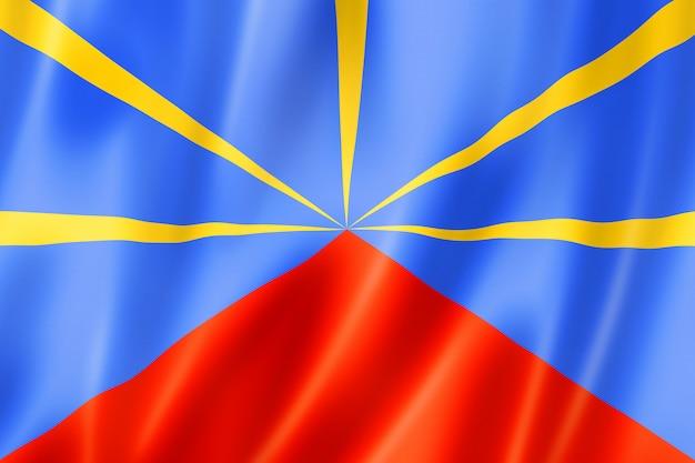 Reunion flagge, überseegebiete von frankreich