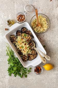 Rezept zum kochen von vegetarischen grill-auberginen