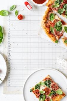 Rezeptidee für frische hausgemachte pizza