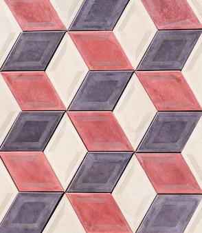 Rhombus geformte textur einer steinmauer