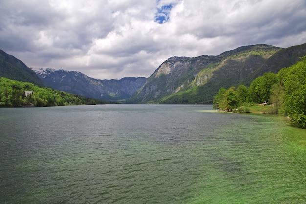 Ribcev laz auf bohinj see, triglav-natioanl park, slowenien