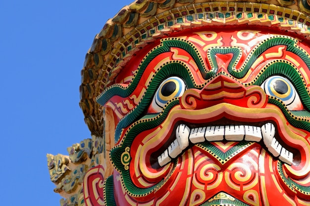 Riese wat pra kaeo temple, thailand