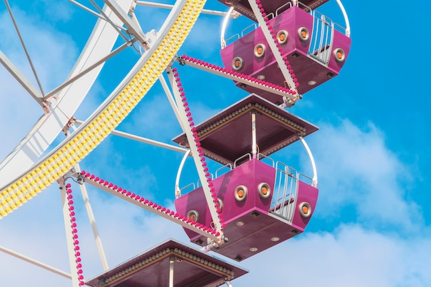 Riesenradkabinen schließen oben