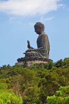 Riesige buddha lantau insel in hong kong
