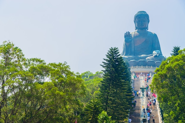 Riesiger buddha in hong kong