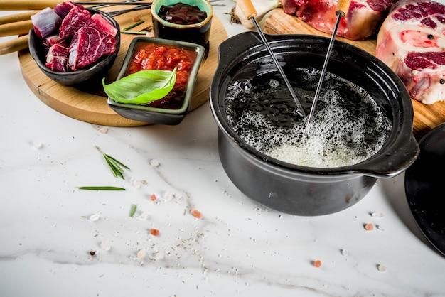 Rindfleisch fondue