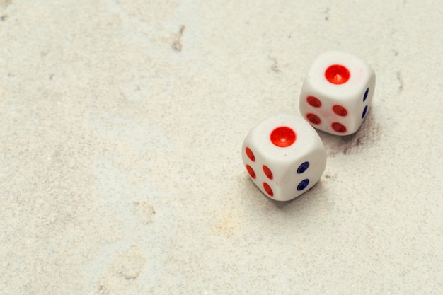 Risikokonzept - würfel spielen